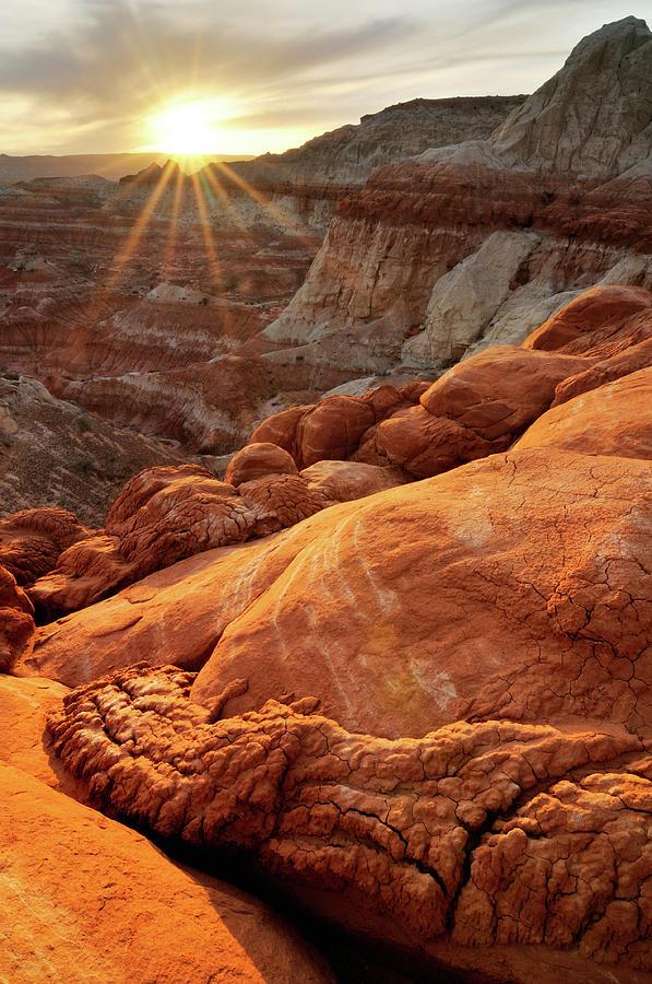Sunset Landscape At Paria Rimrocks Photograph by Rezus