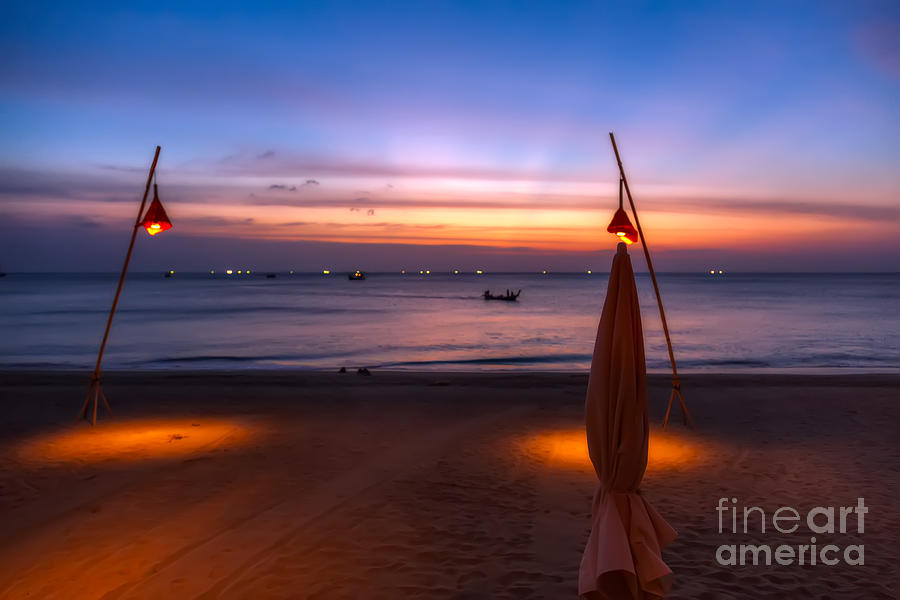 Hdr Photograph - Sunset Lanta Island  by Adrian Evans