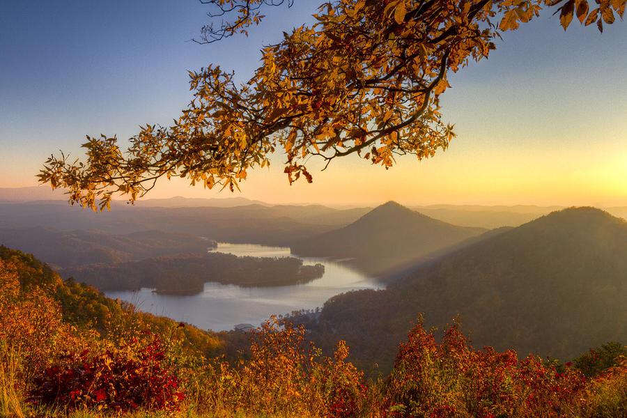 Appalachia Photograph - Sunset Light by Debra and Dave Vanderlaan