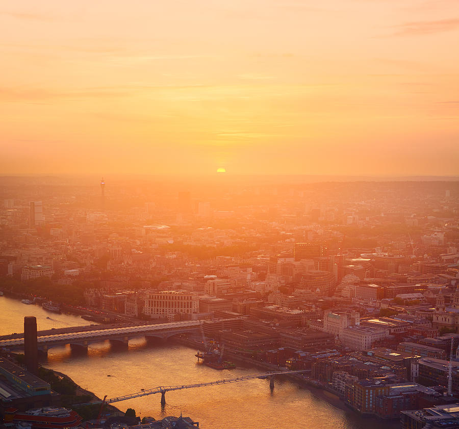 Sunset light in London. Photograph by Tim Robberts