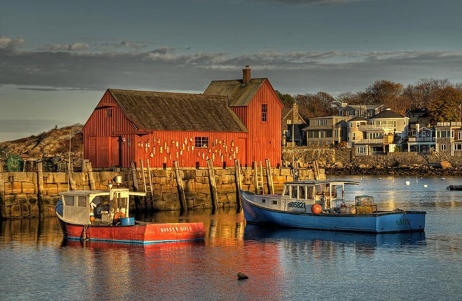 New England Photograph - Sunset Light On Motif No. 1  by Liz Mackney