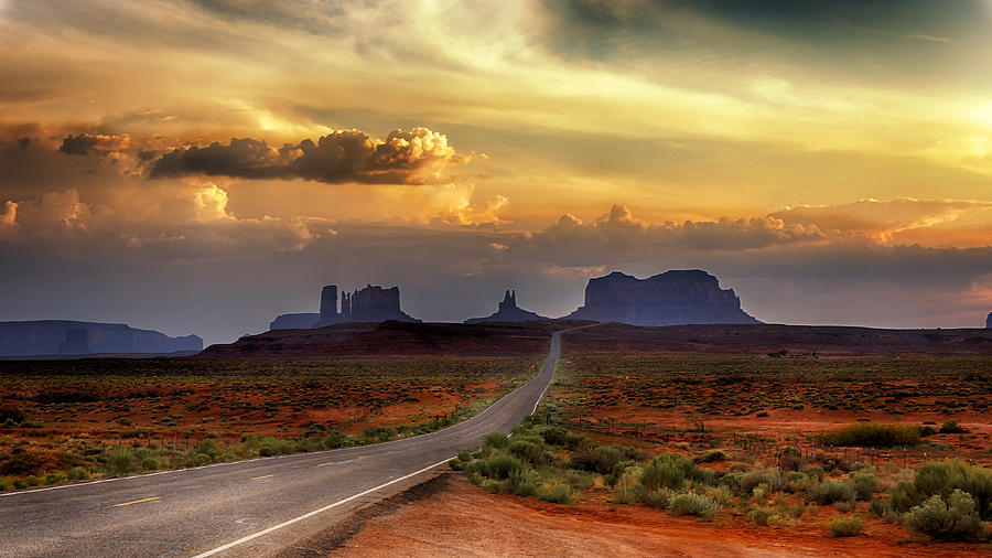 Sunset Light over Monument Valley by David Soldano