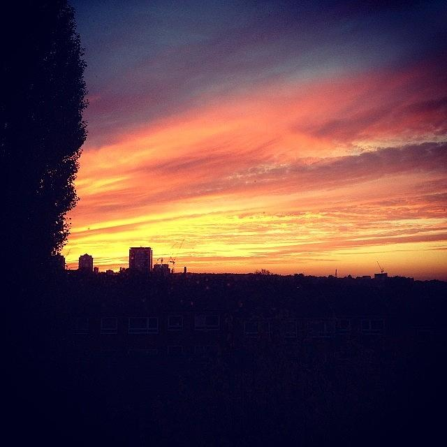 London Photograph - #sunset #london #skyline by Andrea Drudikova