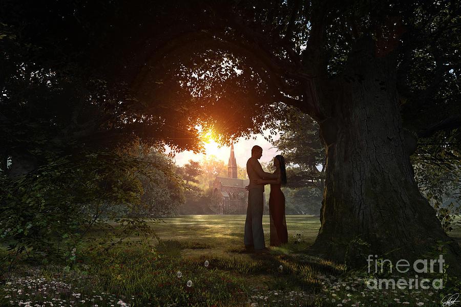Adult Digital Art - Sunset Lovers by Dominic Davison