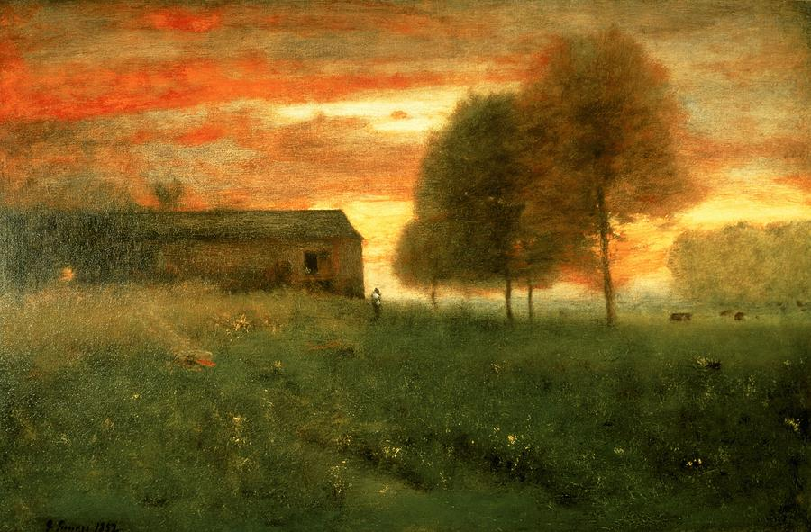 george inness early moonrise - 900×591