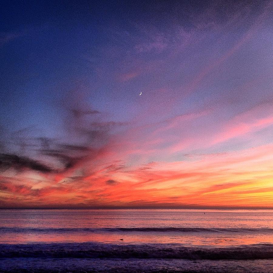 Sunset Photograph - Sunset Moon Rise by Paul Carter