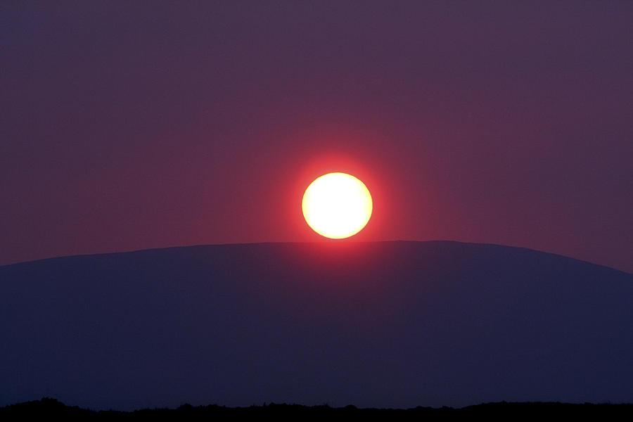 Atlantic Photograph - Sunset Mountain by Aidan Moran