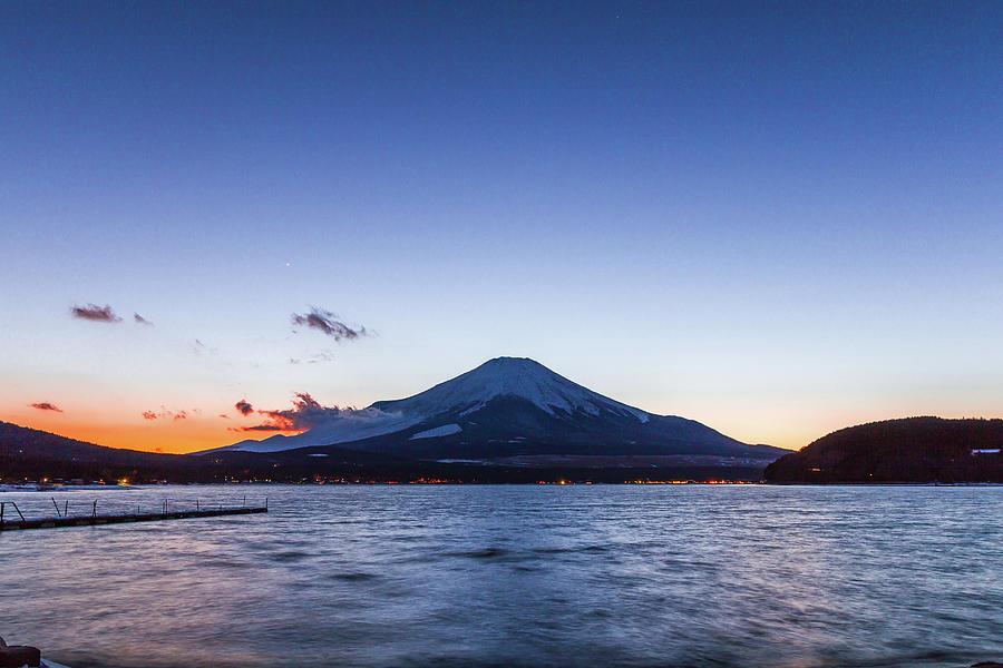 Sunset Mt. Fuji Photograph by Daisuke Tashiro