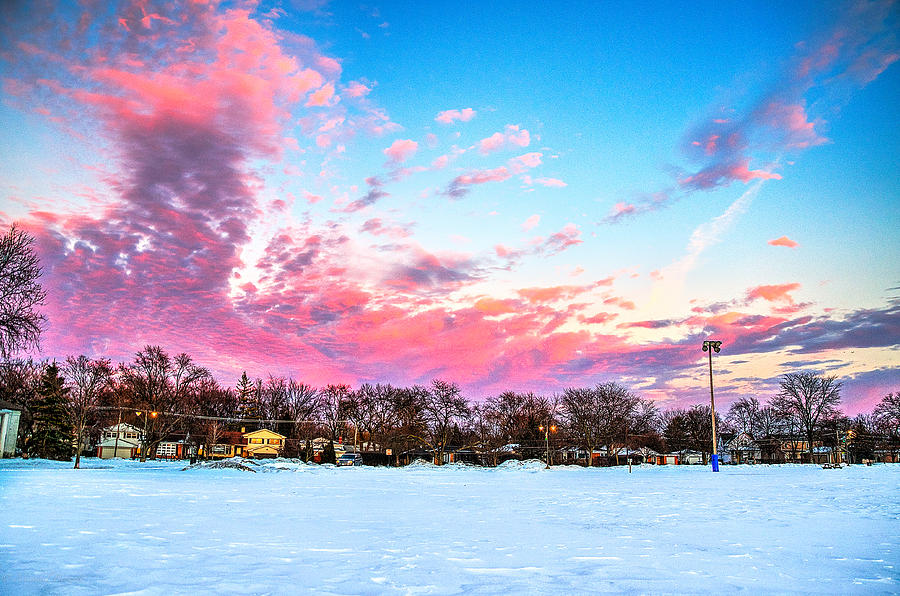 Lake Michigan Photograph - Sunset North Of Chicago Lake Michigan 1-19-14 by Michael  Bennett