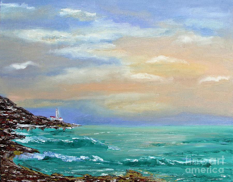 Sunset Painting by Olesya Rossoshinskaya