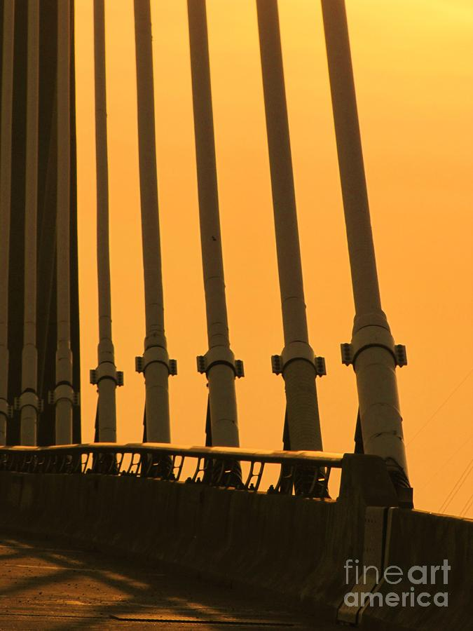 Bridge Photograph - Sunset On A Bridge by Michelle Powell