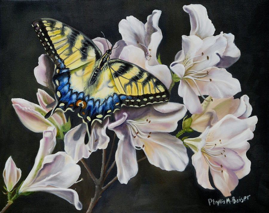 Butterfly Painting - Sunset On A Swallowtail by Phyllis Beiser