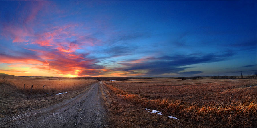 Kansas Photograph - Sunset On Aa Road by Rod Seel