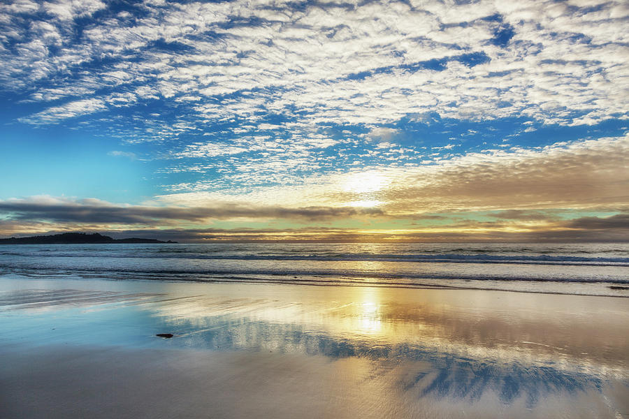 Sunset On Carmel Beach, California Photograph by Alvis Upitis