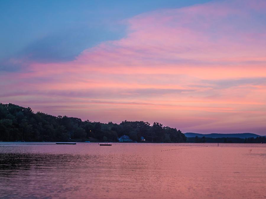 Sunset Photograph - Sunset On Chickawaukee Lake by Ernest Puglisi