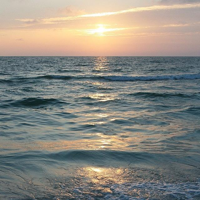 Love Photograph - Sunset On #clearwater #beach #florida by Georgia Fowler