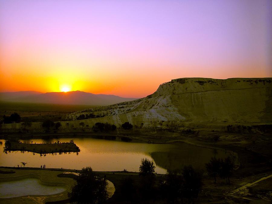 Sunset on Cotton Castles by Zafer Gurel