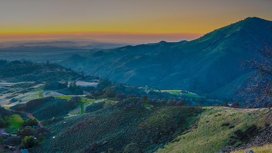 Sunset Photograph - Sunset On Figueroa Mountain by Paul Johnson
