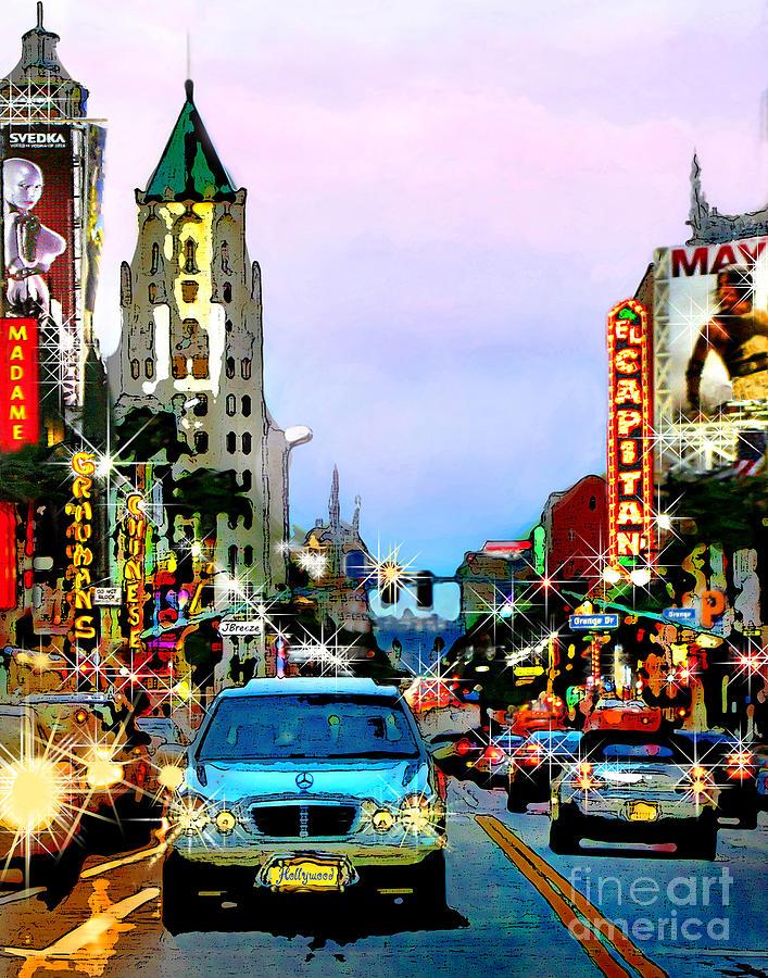 Sunset on Hollywood Blvd by Jennie Breeze