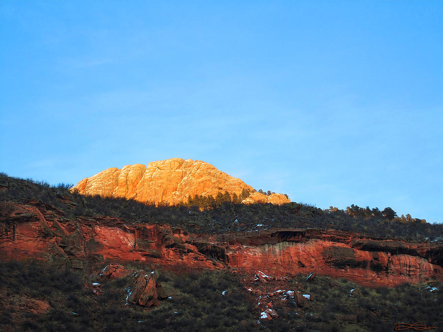 Mountain Sunset Photograph - Sunset On Horsetooth Mountain by Ric Soulen