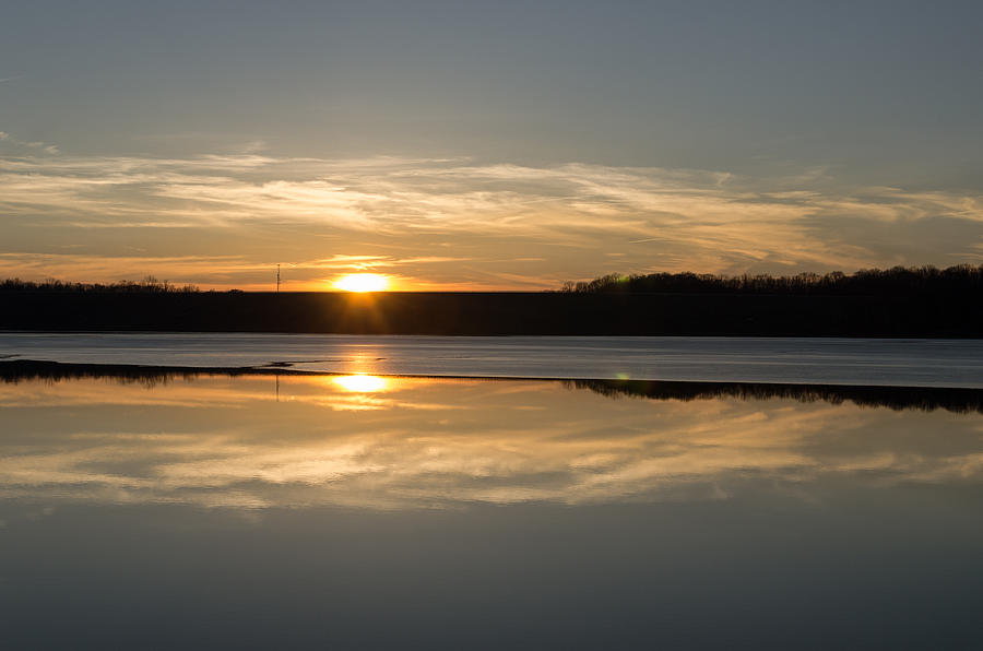 Sunset Photograph - Sunset On Ice by Diana Boyd