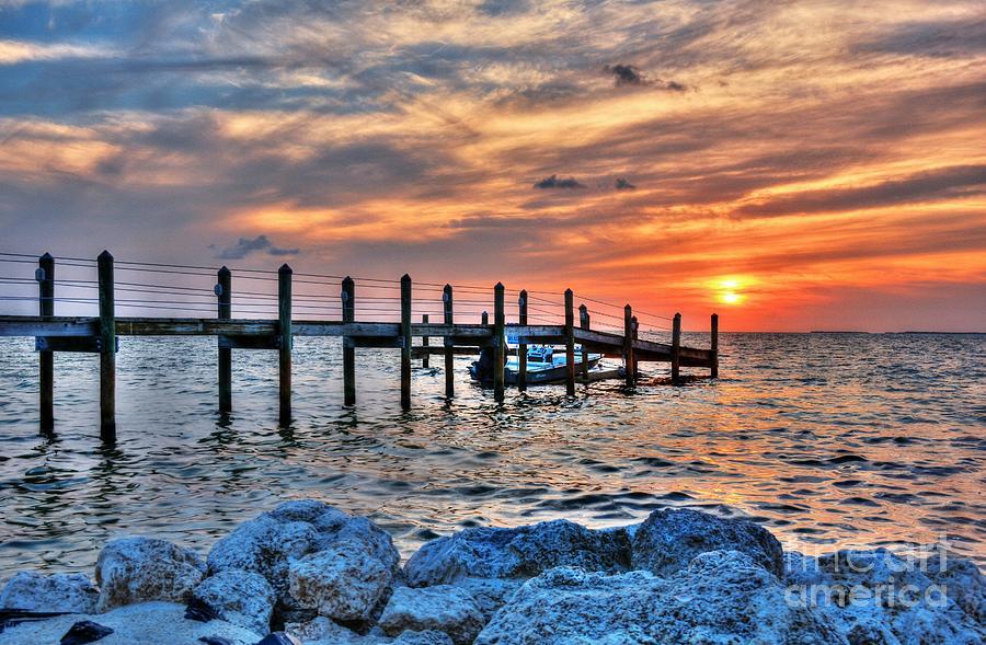Sunsets Photograph - Sunset On Islamorada 2 by Mel Steinhauer