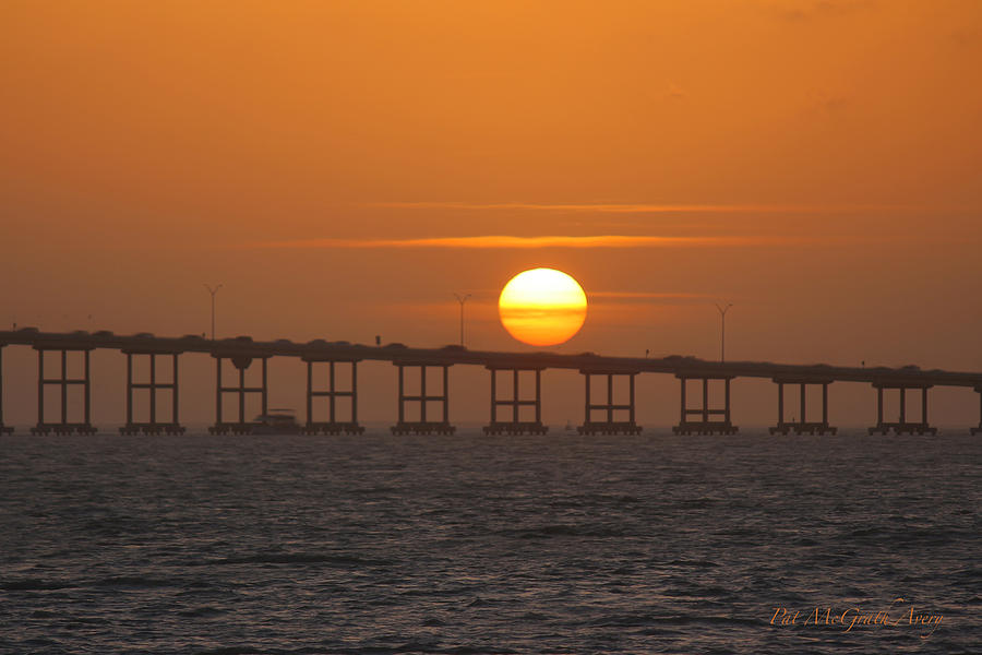 Sunset Photograph - Sunset on Laguna Madre Bay by Pat McGrath Avery