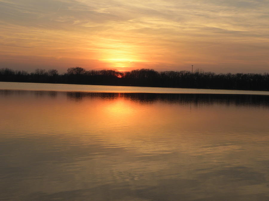 Sunset Photograph - Sunset On Lake by Cim Paddock
