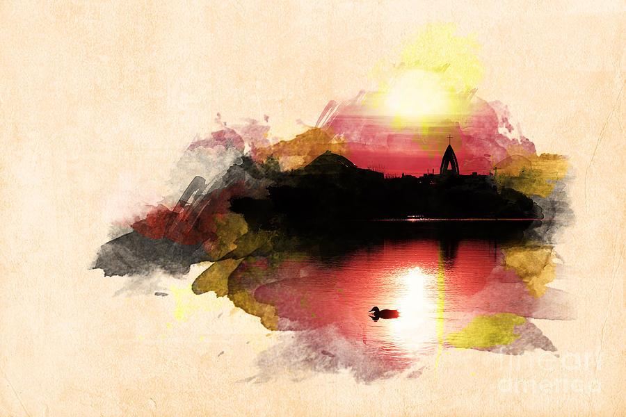 Sunset Photograph - Sunset On Lake by Martin Dzurjanik
