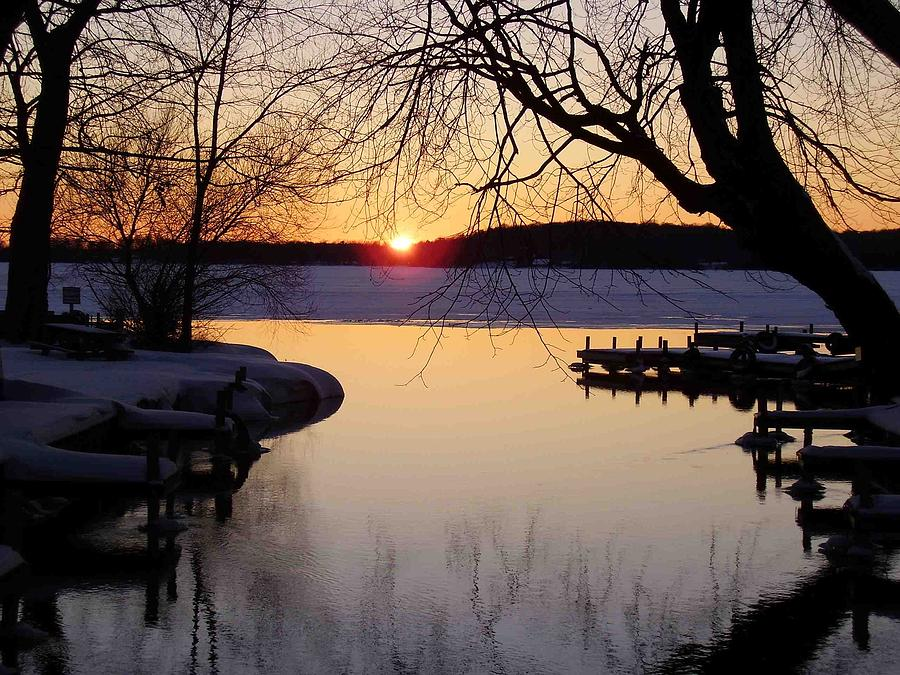 Sunset Photograph - Sunset On Manistique by Feva  Fotos