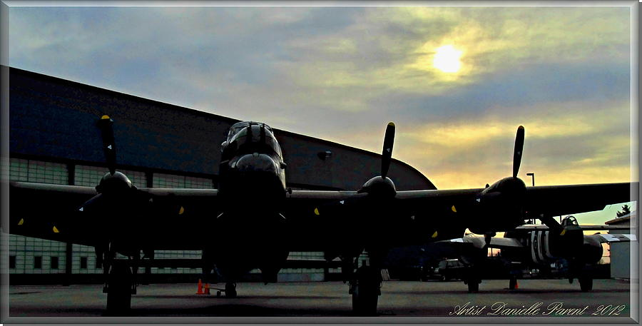 Propeller-driven Aircraft Photograph - Sunset On Rememberance Day by Danielle  Parent
