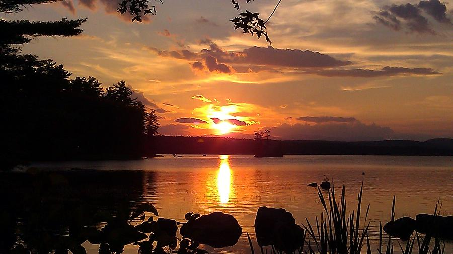 Sunset On Sebago Photograph
