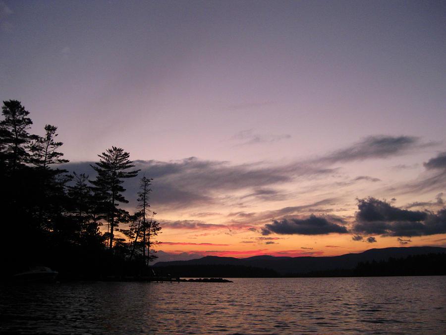 Squam Lake Photograph - Sunset On Squam Lake by Jill Blackwood