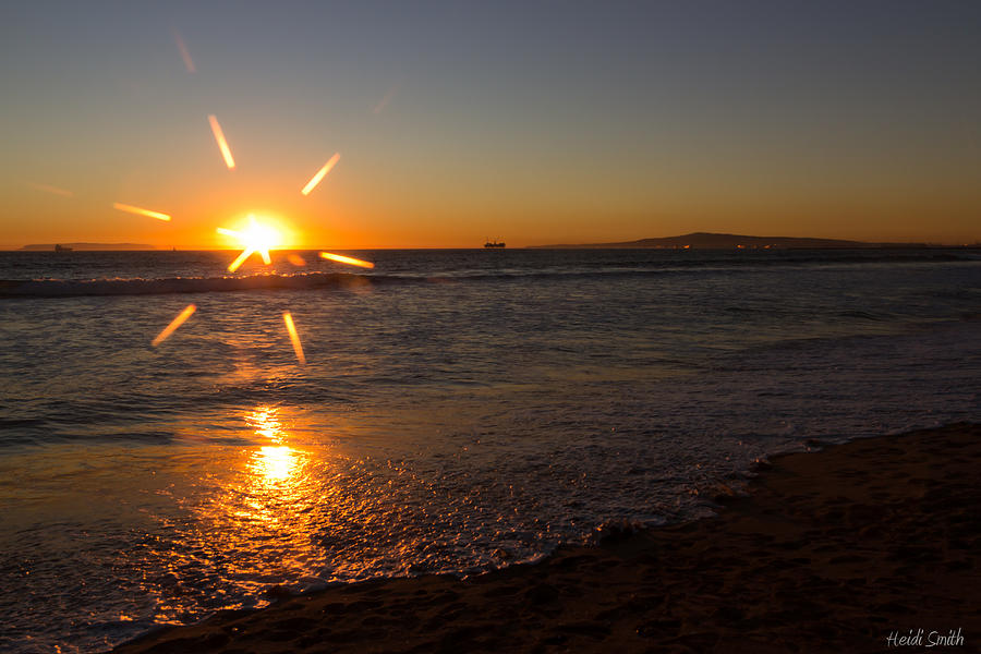Background Photograph - Sunset On Sunset Beach by Heidi Smith