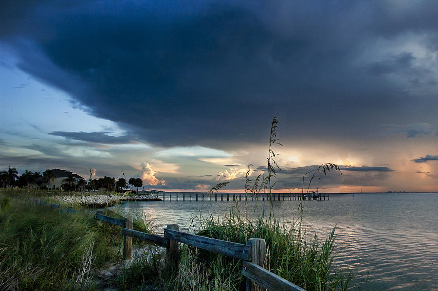 Sunset Photograph - Sunset On Tampa Bay by Norman Johnson
