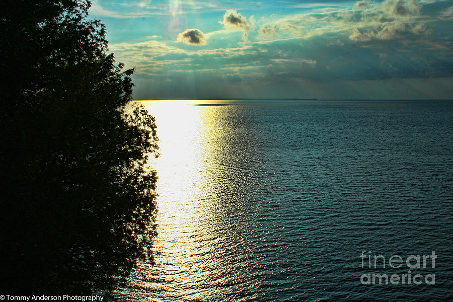 Sunset Photograph - Sunset On The Bay Of Green Bay Wi by Tommy Anderson