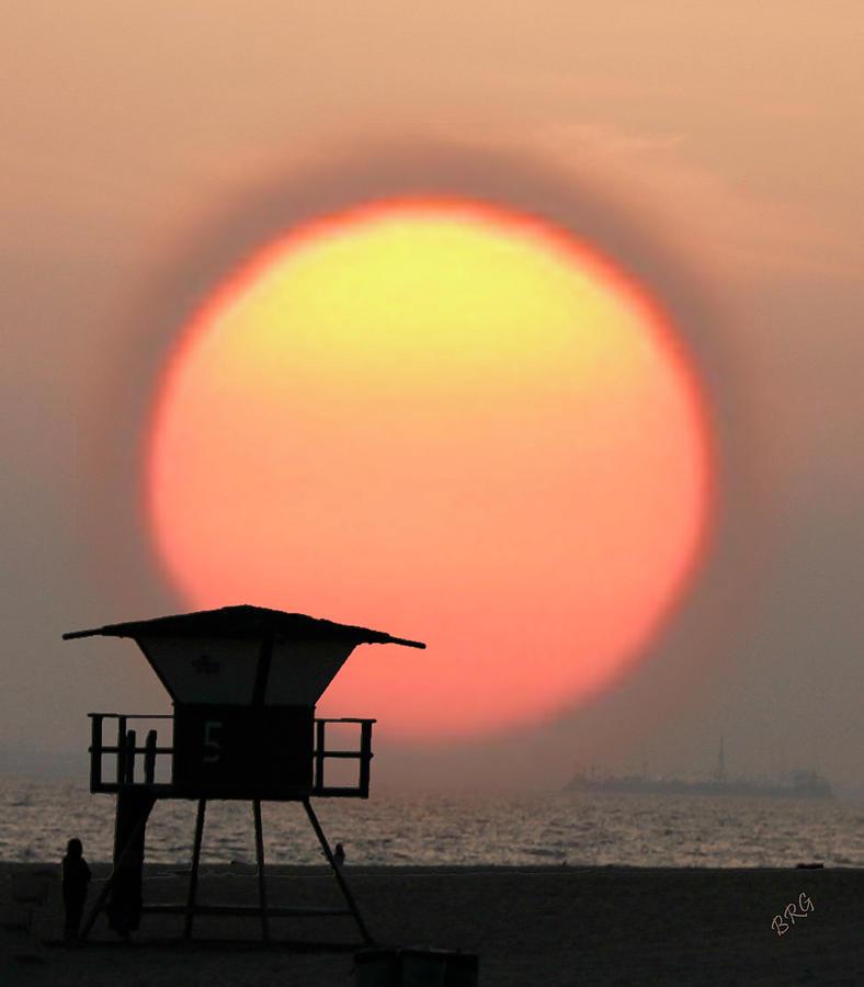 Sun Photograph - Sunset On The Beach by Ben and Raisa Gertsberg