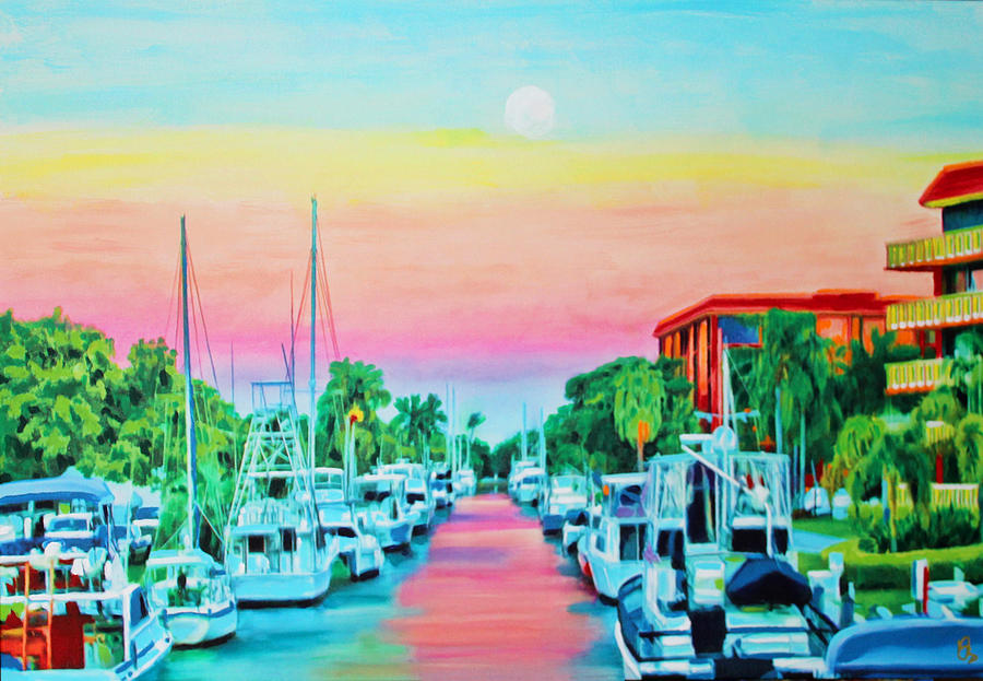 Sunset On The Canal by Deborah Boyd