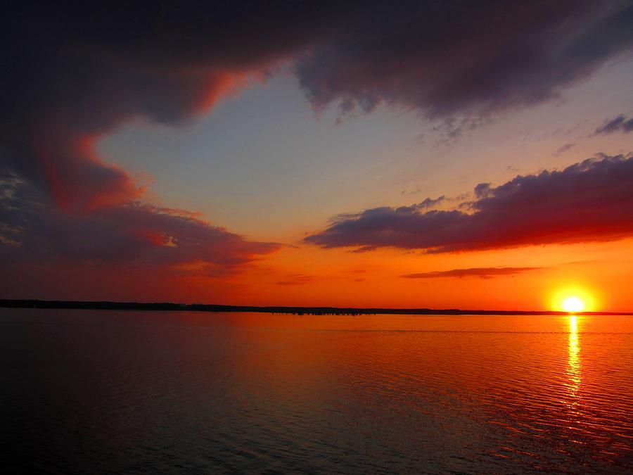 Sunset Photograph - Sunset On The Chesapeake by Gordon Cain