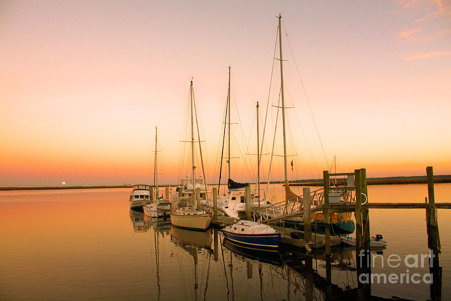 Boats Photograph - Sunset On The Dock by Southern Photo