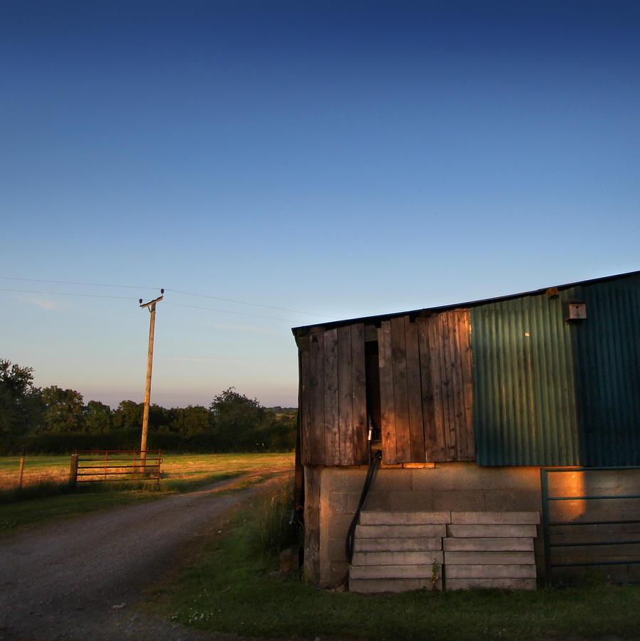 Farm Photograph - Sunset On The Farm by Ed Pettitt