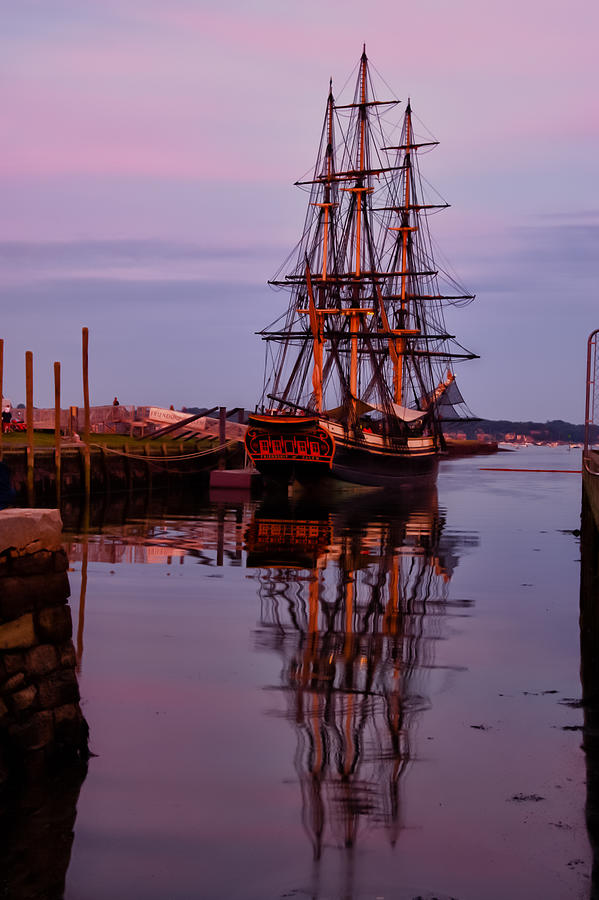 New England Photograph - Sunset On The Friendship Of Salem by Jeff Folger