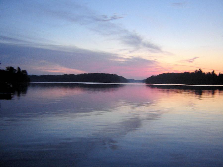 Landscape Photograph - Sunset On The Lake 2 by Gaetano Salerno