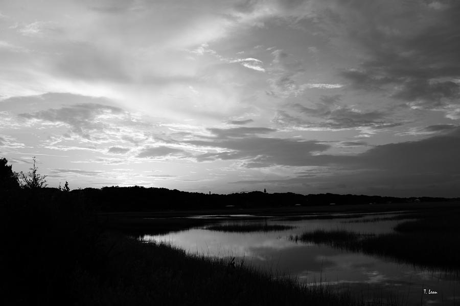 Sunset Photograph - Sunset On The Marsh by Thomas Leon
