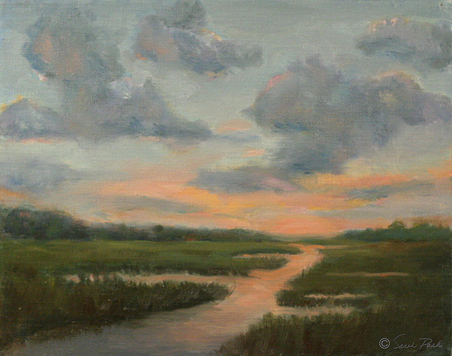 Sunset on the Marshes by Sarah Parks