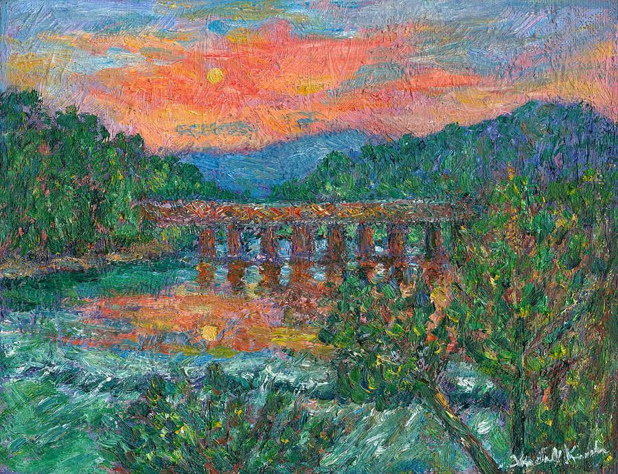 Sunset Painting - Sunset On The New River by Kendall Kessler