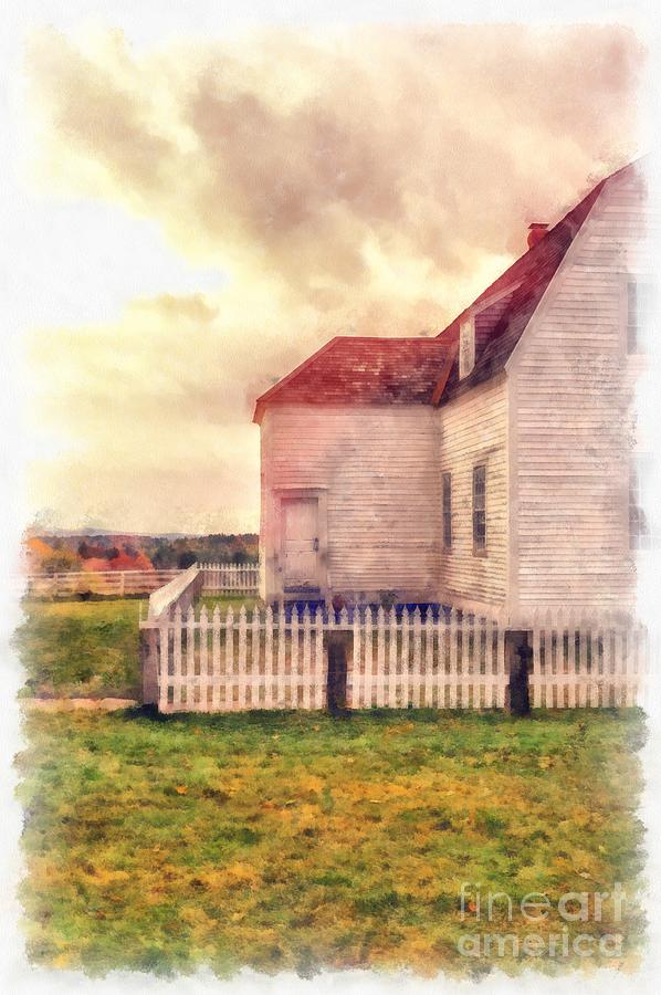 Farm Photograph - Sunset On The Old Farm House by Edward Fielding