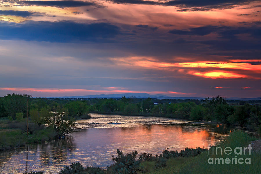 Sunset Photograph - Sunset On The Payette  River by Robert Bales