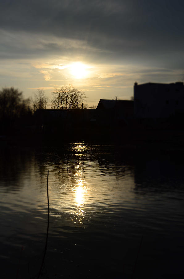 River Photograph - Sunset On The River by Samantha Morris