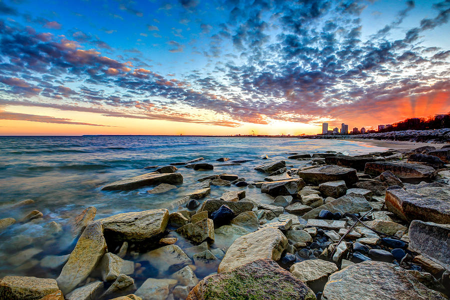Sunset Photograph - Sunset On The Rocks by Anna-Lee Cappaert